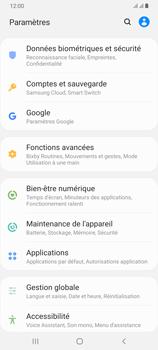 Samsung Galaxy A70 - Données - créer une sauvegarde avec votre compte - Étape 4