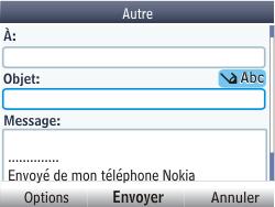 Nokia Asha 201 - E-mail - envoyer un e-mail - Étape 9
