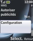 Nokia 2330 classic - MMS - configuration automatique - Étape 12