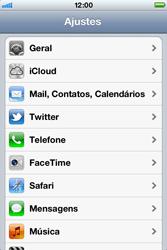 Apple iPhone iOS 5 - Internet (APN) - Como configurar a internet do seu aparelho (APN Nextel) - Etapa 3
