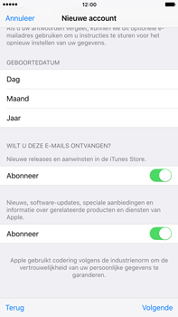 Apple iPhone 6s Plus met iOS 9 (Model A1687) - Applicaties - Account aanmaken - Stap 17