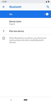 Google Pixel 3 - Bluetooth - Pair with another device - Step 8