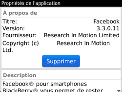 BlackBerry 9720 - Applications - Supprimer une application - Étape 8