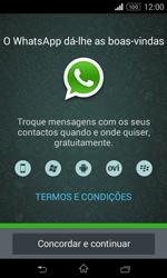 Sony Xperia E1 - Aplicações - Como configurar o WhatsApp -  5