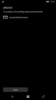 Microsoft Lumia 950 XL - E-mail - Configurar correo electrónico - Paso 20