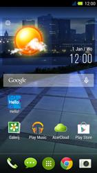 Acer Liquid E3 - E-mail - Handmatig instellen - Stap 1