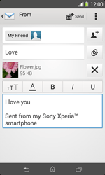 Sony D2005 Xperia E1 - Email - Sending an email message - Step 13