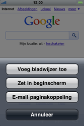Apple iPhone 3G S - Internet - Hoe te internetten - Stap 6
