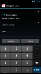 Motorola XT910 RAZR - Email - Como configurar seu celular para receber e enviar e-mails - Etapa 13