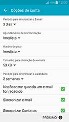 Samsung Galaxy A5 - Email - Como configurar seu celular para receber e enviar e-mails - Etapa 7