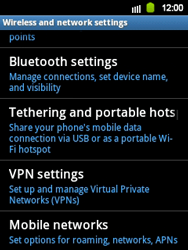 Samsung S5360 Galaxy Y - Internet - Enable or disable - Step 5