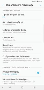 Samsung Galaxy Note 8 - Segurança - Como ativar o código de bloqueio do ecrã -  12