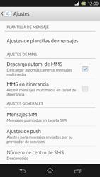 Sony Xperia Z - Mensajería - Configurar el equipo para mensajes de texto - Paso 6
