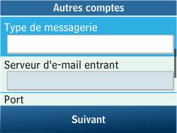Samsung C3500 Chat 350 - E-mail - Configuration manuelle - Étape 15