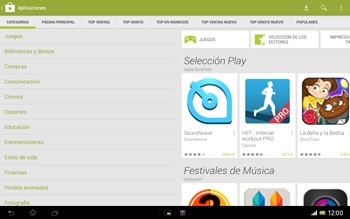 Sony Xperia Tablet Z - Aplicaciones - Descargar aplicaciones - Paso 5