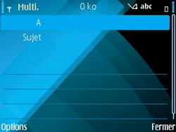 Nokia E71 - MMS - envoi d'images - Étape 6