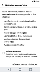 LG X Cam - Device maintenance - Retour aux réglages usine - Étape 7
