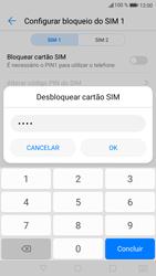 Huawei P9 Lite - Android Nougat - Segurança - Como ativar o código PIN do cartão de telemóvel -  8