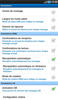 Samsung P1000 Galaxy Tab - SMS - Configuration manuelle - Étape 5