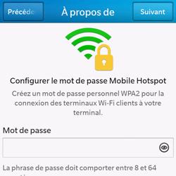 BlackBerry Q10 - Internet et connexion - Partager votre connexion en Wi-Fi - Étape 11