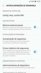Samsung Galaxy S6 Edge - Android Nougat - Segurança - Como ativar o código PIN do cartão de telemóvel -  6
