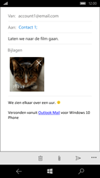 Microsoft Lumia 950 - E-mail - Hoe te versturen - Stap 15