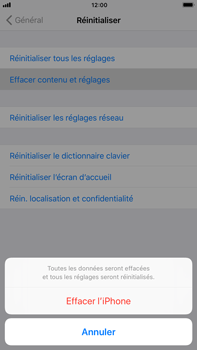 Apple iPhone 6 Plus - iOS 11 - Device maintenance - Retour aux réglages usine - Étape 7