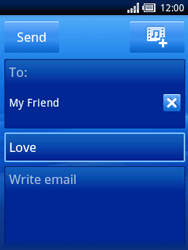 Sony Ericsson Xperia X10 Mini - Email - Sending an email message - Step 7