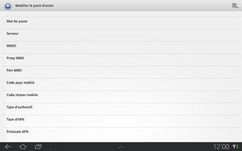 Samsung P7500 Galaxy Tab 10-1 - Internet - Configuration manuelle - Étape 8