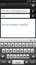 Sony LT22i Xperia P - E-mail - Sending emails - Step 8