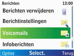 Nokia C3-00 - Voicemail - handmatig instellen - Stap 6