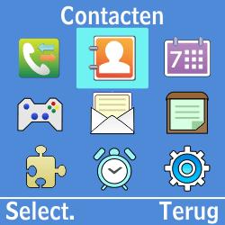 Samsung GT-E1200i - Contacten en data - Contacten kopiëren van toestel naar SIM - Stap 3