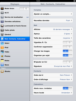 Apple iPad 2 - E-mail - Configuration manuelle - Étape 3