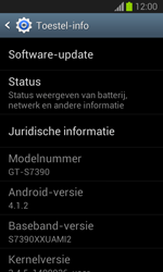 Samsung S7390 Galaxy Trend Lite - Software updaten - Update installeren - Stap 5