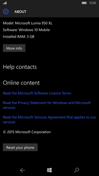 Microsoft Lumia 950 XL - Device maintenance - How to do a factory reset - Step 7