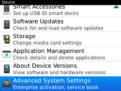 BlackBerry 9320 Curve - Settings - Configuration message received - Step 5