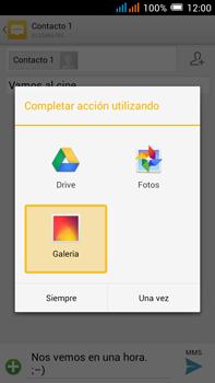 Alcatel Pop C9 - Mensajería - Escribir y enviar un mensaje multimedia - Paso 16