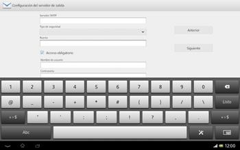 Sony Xperia Tablet Z - E-mail - Configurar correo electrónico - Paso 14