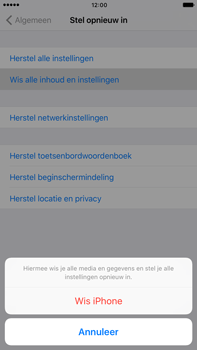 Apple iPhone 6s Plus iOS 10 - Toestel reset - terugzetten naar fabrieksinstellingen - Stap 6