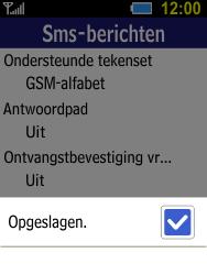 Samsung B550H Xcover 550 - SMS - handmatig instellen - Stap 8