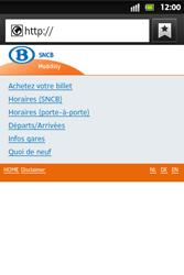 Sony ST27i Xperia Go - Internet - Navigation sur Internet - Étape 13