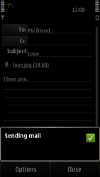 Nokia E7-00 - E-mail - Sending emails - Step 13