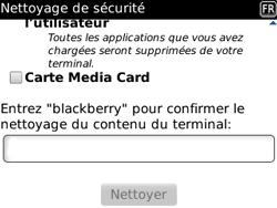 BlackBerry 8520 - Aller plus loin - Restaurer les paramètres d'usines - Étape 8