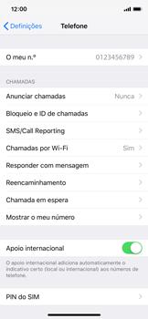 Apple iPhone X - iOS 12 - Segurança - Como ativar o código PIN do cartão de telemóvel -  4