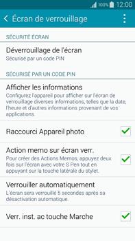 Samsung Galaxy Note 4 - Sécuriser votre mobile - Activer le code de verrouillage - Étape 11