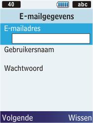 Samsung C3350 Xcover 2 - E-mail - e-mail instellen: POP3 - Stap 13