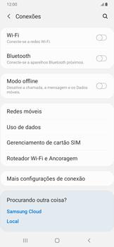 Samsung Galaxy A20 - Rede móvel - Como selecionar o tipo de rede adequada - Etapa 5