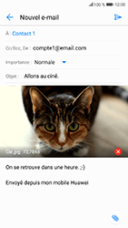 Honor 9 - E-mails - Envoyer un e-mail - Étape 17