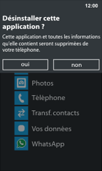 Nokia Lumia 800 - Applications - Supprimer une application - Étape 5