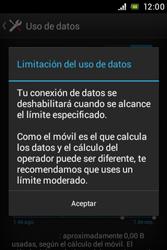 Sony Xperia E - Internet - Ver uso de datos - Paso 9